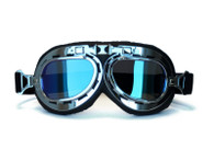 Aviator Goggle - Black/Chrome - Iridescent Mirrored Lens