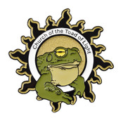 Church of the Toad of Light pin