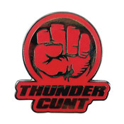 Thunder Cunt Fist pin - Red - PMS 186