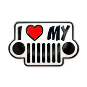 I Love My Jeep - Round Lights lapel pin
