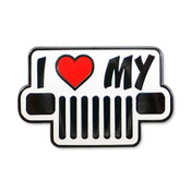 I Love My Jeep - Square Lights lapel pin