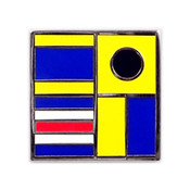 Nautical Flag pin - DICK