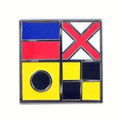Nautical Flag pin - EVIL