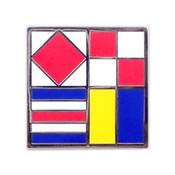 Nautical Flag pin - FUCK