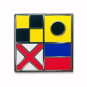 Nautical Flag pin - LIVE