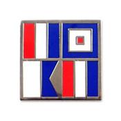 Nautical Flag pin - TWAT