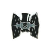 Dapper TIE Fighter Lapel Pin Hard Enamel Silver