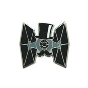 Dapper TIE Fighter Lapel Pin Hard Enamel Silver