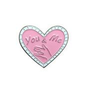 You Me And Shocker Lapel Pin PMS 477 dyed soft enamel