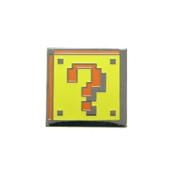 Mario - Question Box Lapel Pin Black Nickel Hard Enamel