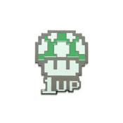 Mario - 1Up Lapel Pin Hard Enamel Black Nickel