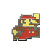 Mario - Jumping Lapel Pin Hard Enamel Black Nickel