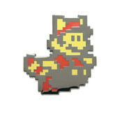Mario - Flying Raccoon Lapel Pin Hard Enamel Black Nickel