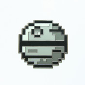 8-Bit Death Star Lapel Pin Hard Enamel Black Nickel