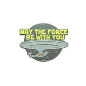 May The Force Be With You Enterprise Lapel Pin hard enamel black nickel