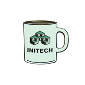 Office Space - Initech Mug Lapel Pin Hard Enamel Black Nickel