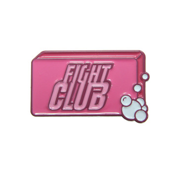 Fight Club Soap Lapel Pin Soft Enamel PMS 215 Dyed Plating