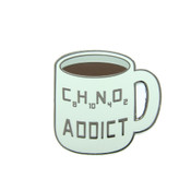 Caffeine Addict Lapel Pin Hard Enamel Black Nickel