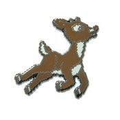 8-Bit Rudolph Lapel Pin Hard Enamel Black Nickel
