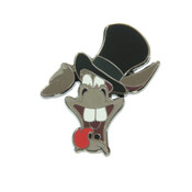 Asshat Donkey Tophat Lapel Pin Hard Enamel Black Nickel