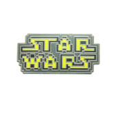 8-Bit Star Wars Logo Lapel Pin Hard Enamel Silver