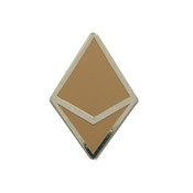 Ethereum Dapps Lapel Pin Hard Enamel Silver