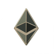 Ethereum Icon Lapel Pin Hard Enamel Silver