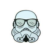 Storm Trooper With Glasses Lapel Pin Soft Enamel Black Dyed