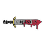 Kill Them With Kindness Lapel Pin Hard Enamel Black Nickel