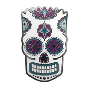 Bart Simpson Sugar Skull Lapel Pin Hard Enamel Black Nickel