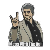 Breakfast Club - Mess With the Bull Lapel Pin Hard Enamel Black Nickel