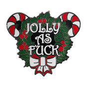 Jolly as Fuck Lapel Pin Hard Enamel Black Nickel