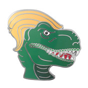 T-Rump Lapel Pin Hard Enamel Black Nickel