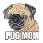 Pug Mom Lapel Pin Hard Enamel Black Nickel