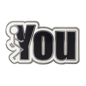 Fuck You Lapel Pin Hard Enamel Silver