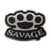 Hipster Lingo - Savage Lapel Pin Hard Enamel Silver