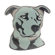 Dog - Pit Bull - Blue Lapel Pin Hard Enamel Black Nickel