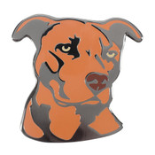 Dog - Pit Bull - Red Lapel Pin Hard Enamel Black Nickel