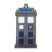 Dr. Who - Tardis 8-Bit Lapel Pin Hard Enamel Silver