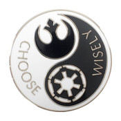 Star Wars Choose Wisely Lapel Pin Hard Enamel Silver