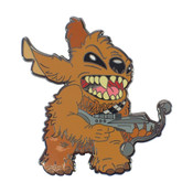 Stitch as Chewbecca Lapel Pin Hard Enamel Black Nickel