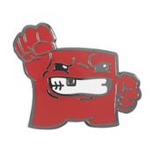 Super Meat Boy Lapel Pin Hard Enamel Black Nickel