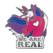 Unicorn - Bisexual Lapel Pin Hard Enamel Black Nickel