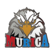 MURICA Eagle Lapel Pin Hard Enamel Black Nickel