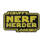 Nerf Herder Lapel Pin Soft Enamel Black Dyed Metal Plating