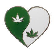 Peace Love Pot Lapel Pin Hard Enamel Black Nickel