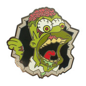 Homer Zombie Lapel Pin Hard Enamel Black Enamel