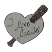 I Love Lucille Lapel Pin Hard Enamel Black Nickel