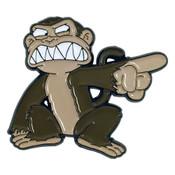 Evil Monkey Lapel Pin Soft Enamel Black Dyed Metal