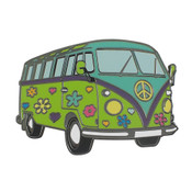 Hippy Van Lapel Pin Hard Enamel Black Nickel